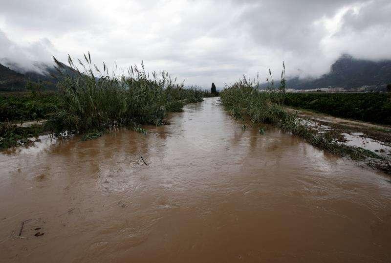 Una zona inundada por el desbordamiento del rio Vaca .EFE