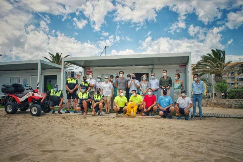 Presentación de la campaña en la playa del Port de Sagunt