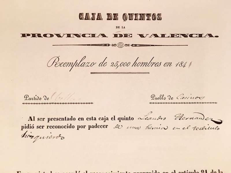 Caja de Quintos. Provincia de Valencia. / JSM