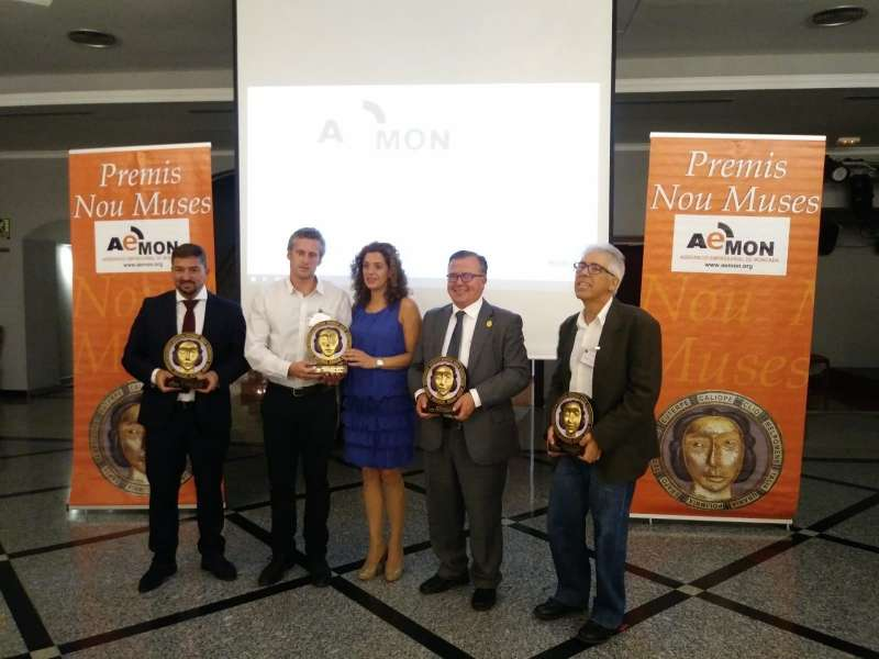 El Periódico de Aquí, Mirmar, Indespan y AMFISEP, galardonados este año en la XVI Premios Nou Muses de Aemon.