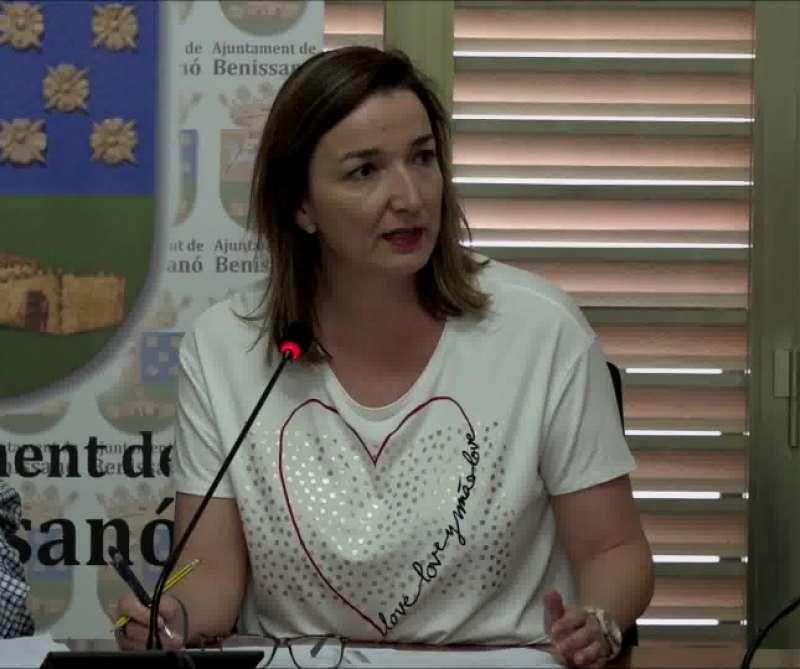 La alcaldessa de Benissanó, Amparo Navarro. / EPDA