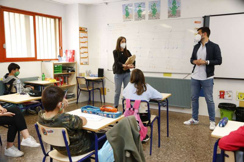 Celebración del Día Mundial contra el Bullying en un colegio de Mislata.
