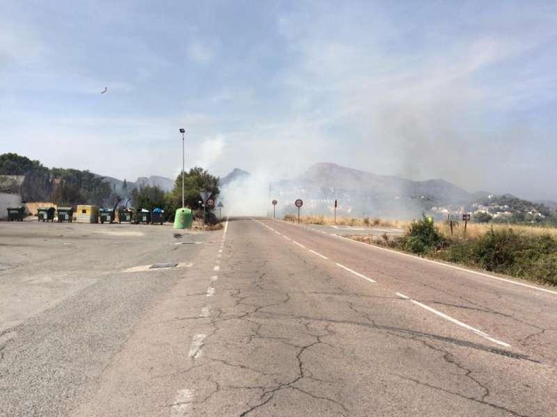 Incendio registrado en el complejo La Pinada de Gilet. EPDA