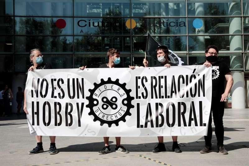 Manifestación Riders x drets. EFE/Biel Aliño