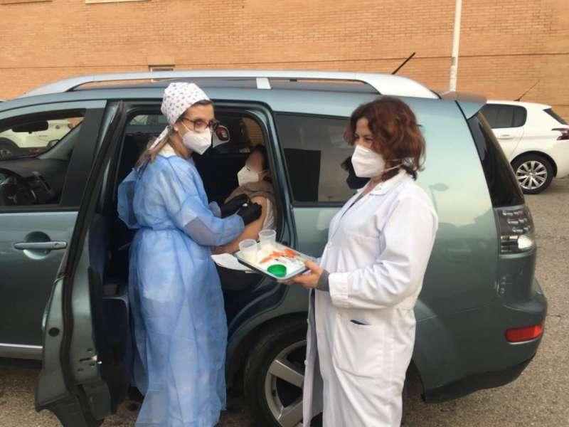 Vacunación de mayores de 90 años en Alboraya