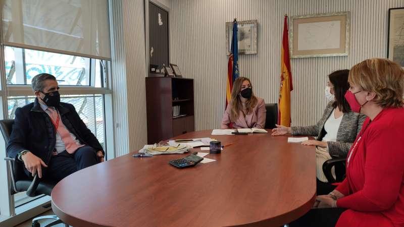 José María Ángel junto a la presidenta de la Mancomunitat de l