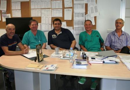 Responsables de la Unidad de Coloproctología del Hospital de Elda. Foto EPDA