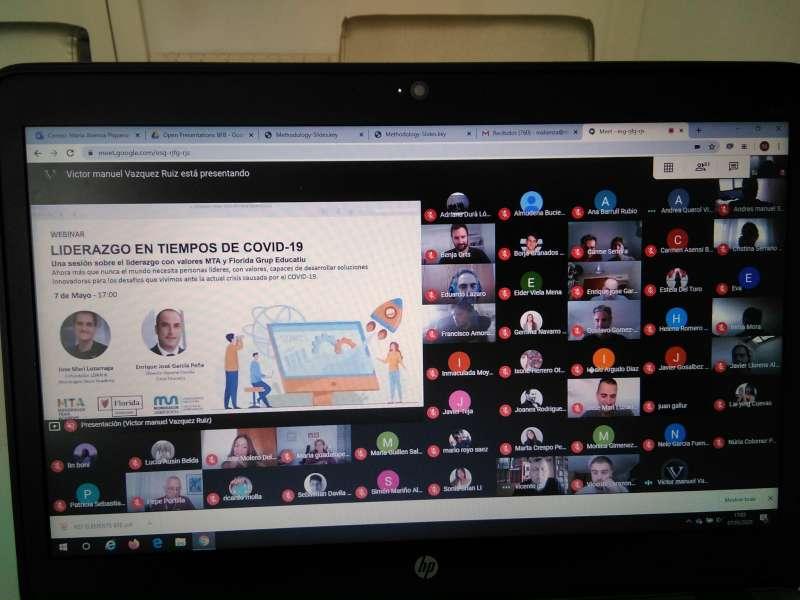 Instante del encuentro online. / EPDA