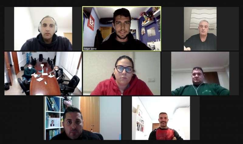 Reunión telemática con los presidentes de las fallas de Bétera. / EPDA