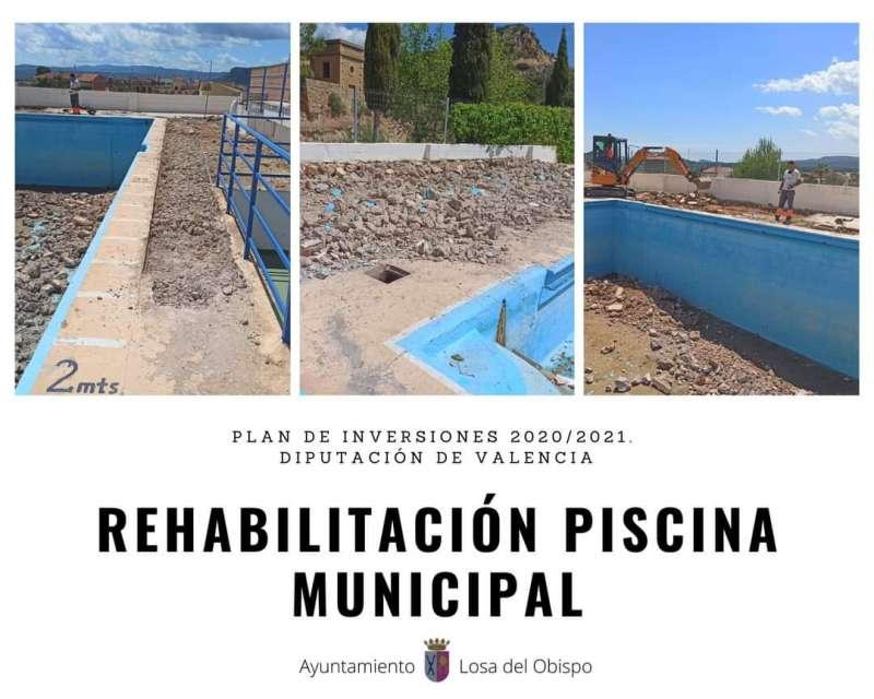 Rehabilitación de la piscina. EPDA.