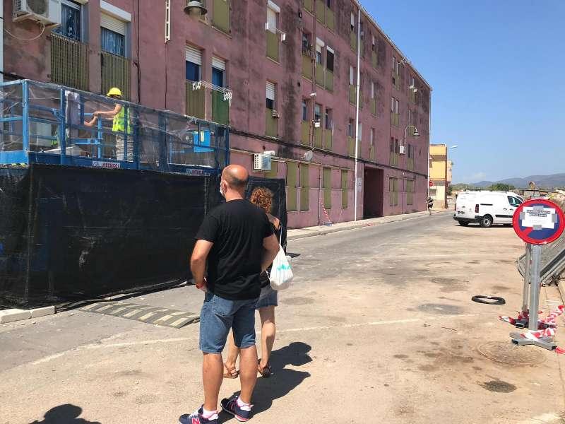 Gómez visita las obras. EPDA