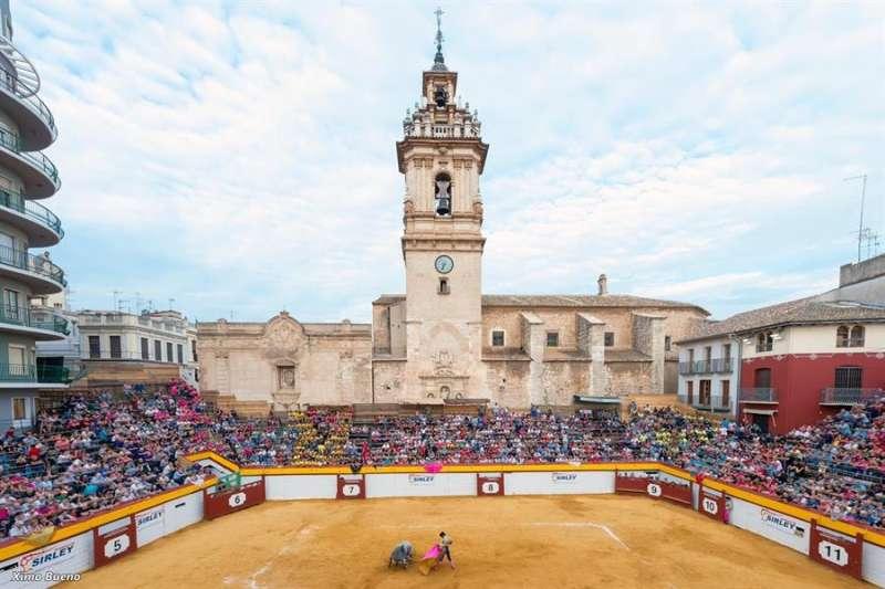 La plaza de toros de Algemesí en una fotografía facilitada por el Ayuntamiento.