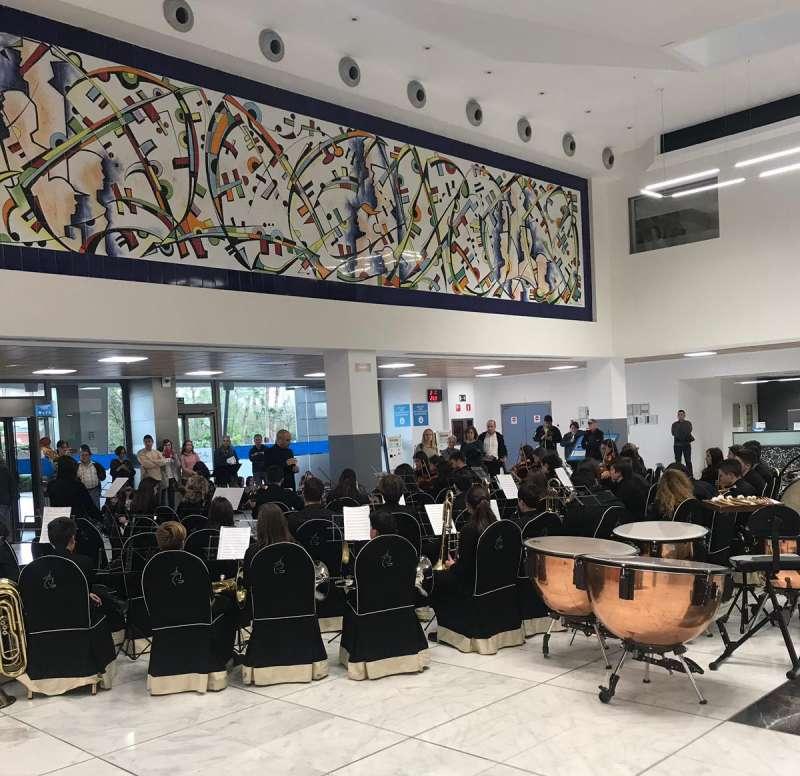Músicos del Conservatorio de Moncada.