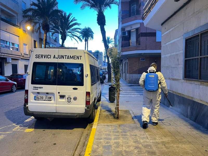 Limpieza de las calles de Massamagrell. EPDA