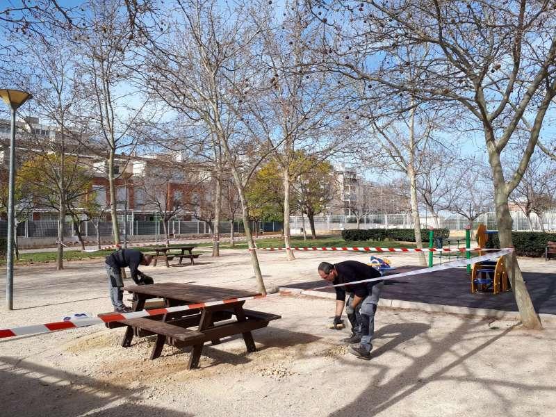 Mobiliario urbano de Paterna. EPDA