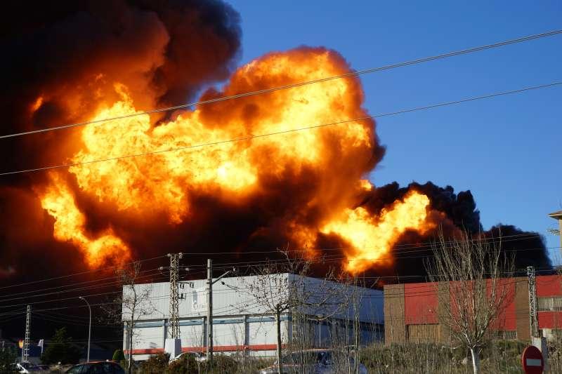 Imagen del incendio acontecido en febrero de 2017. EPDA