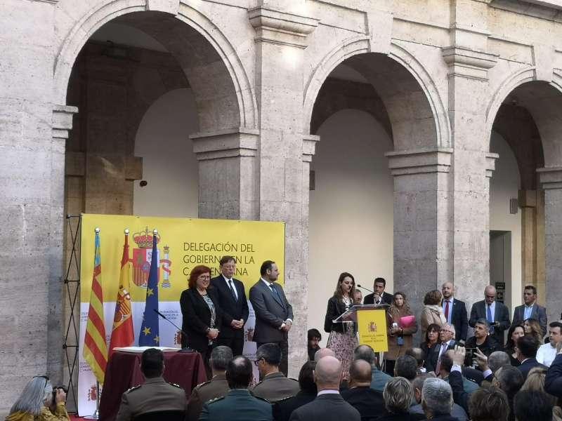 La nueva Delegada del Gobierno en la Comunitat Valenciana, Gloria Calero, en su toma de posesión. EPDA