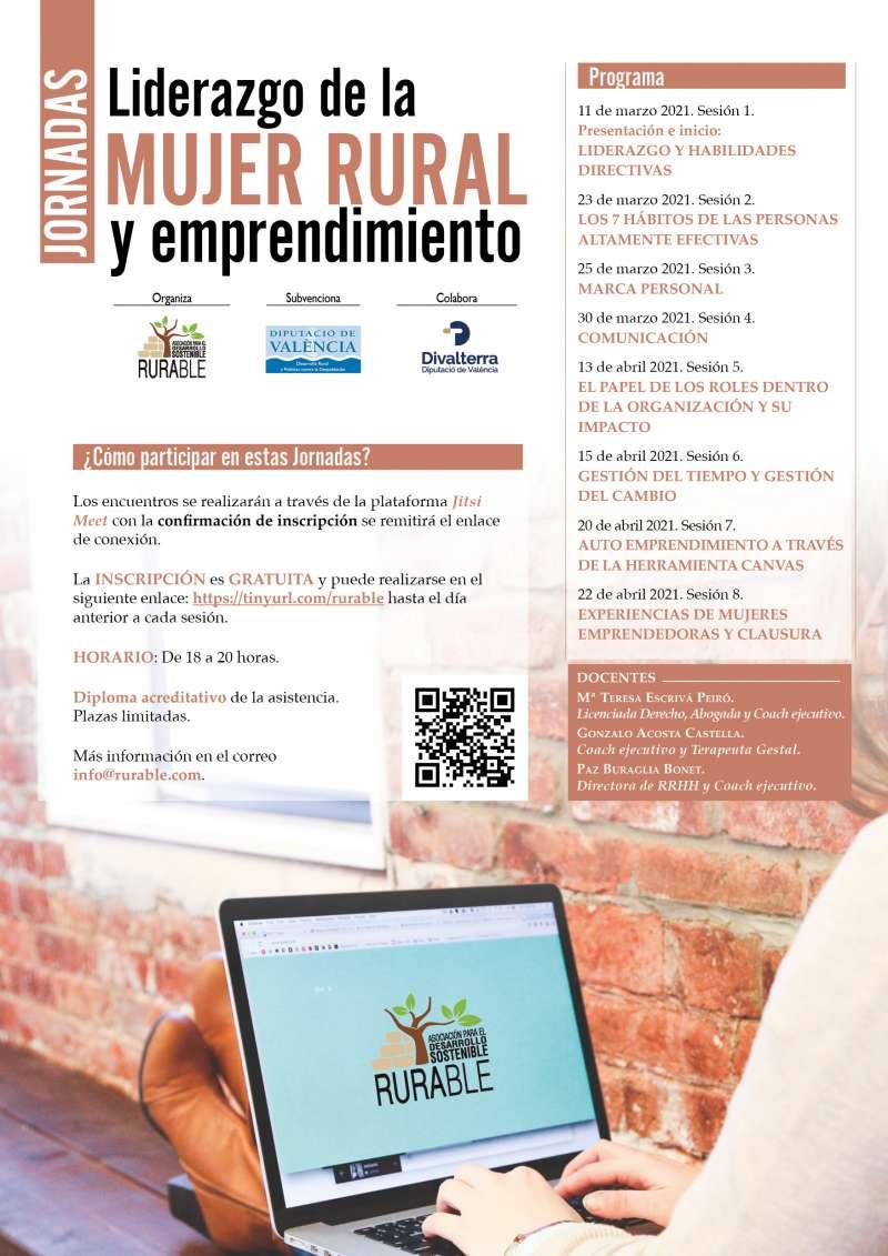 Cartell de les Jornades sobre emprenedoria i lideratge de la dona rural. / EPDA