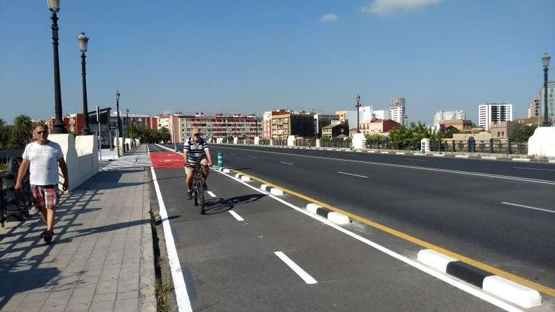 Carril bici en València. EPDA.