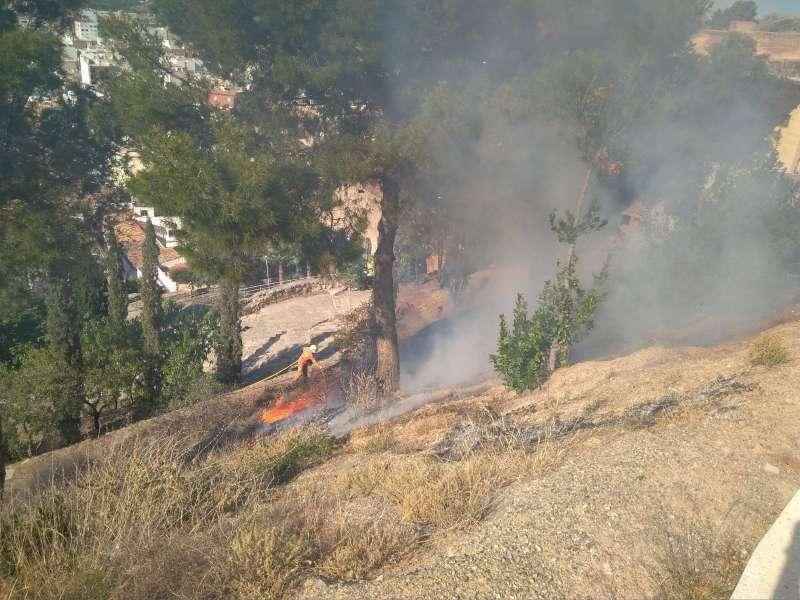 Un incendio, imagen de archivo. EPDA.