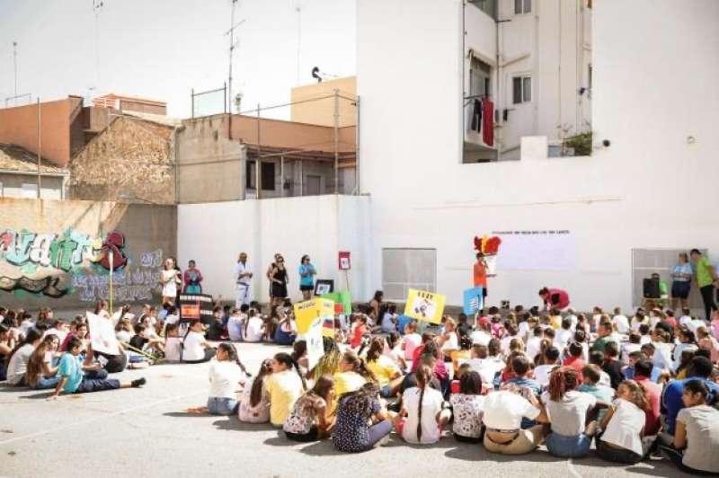 Alumnos del colegio Cervantes de Paterna. EPDA