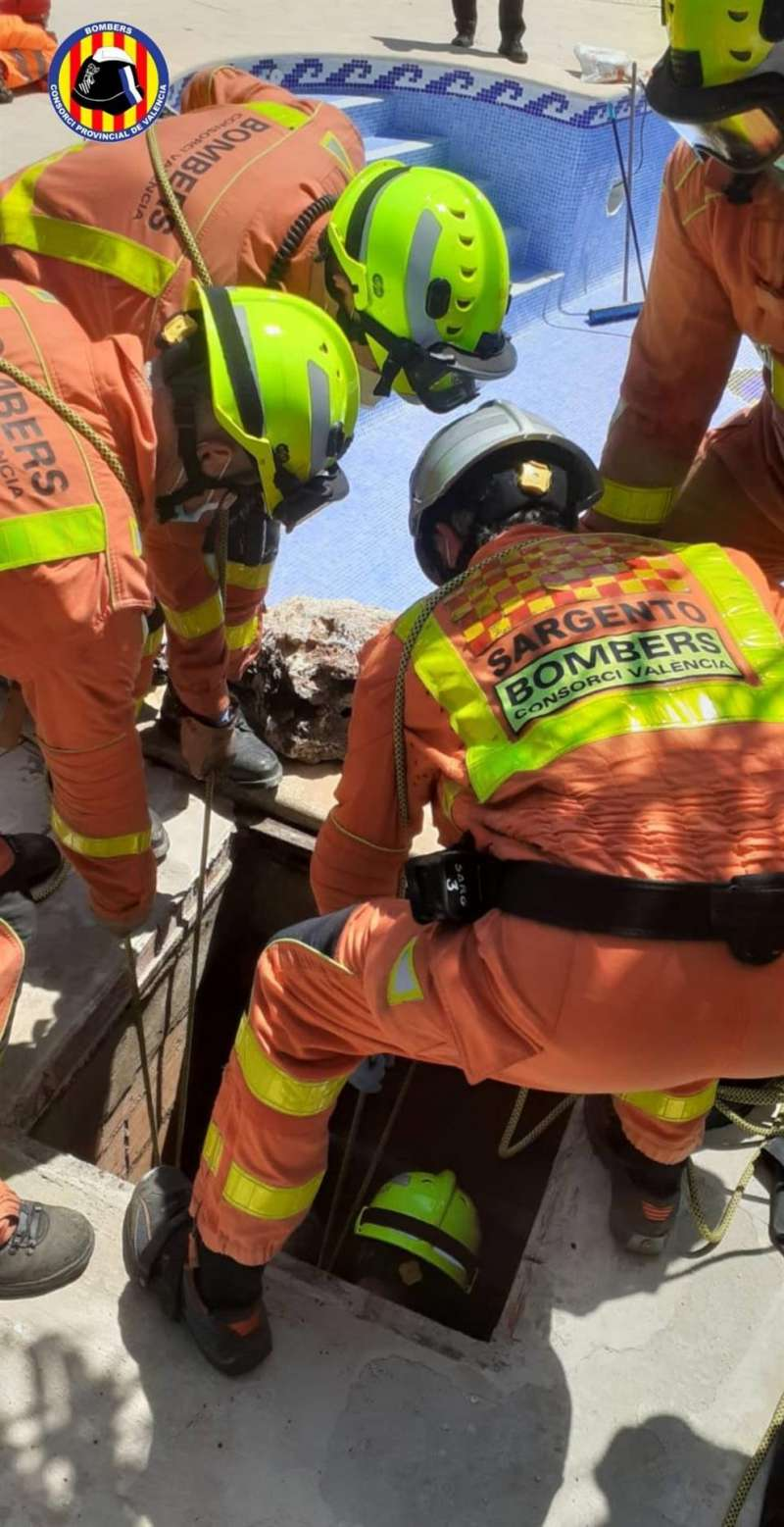Imagen del rescate facilitada por el Consorcio de Bomberos de Valencia