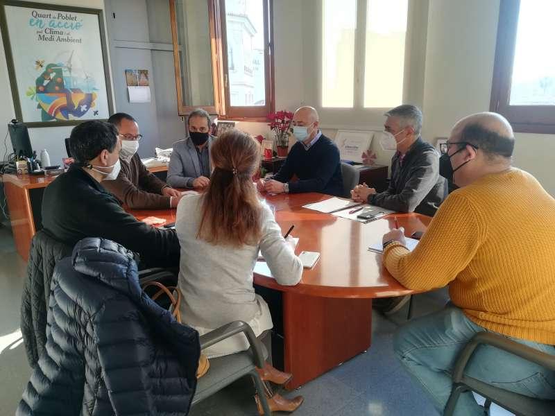 Reunión de los concejales Juan Medina y Ángel Lorente. EPDA