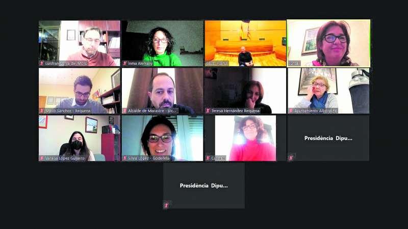 Videoconferencia con la Diputación