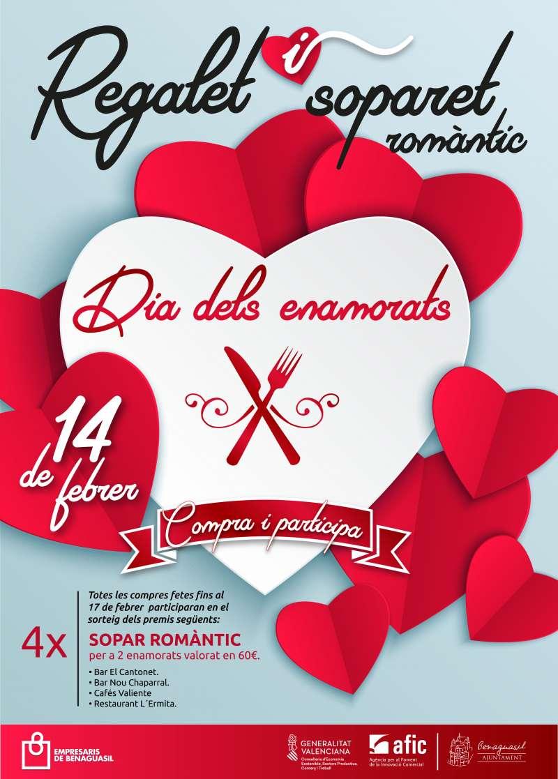 Cartel de actividades día de los enamorados./epda