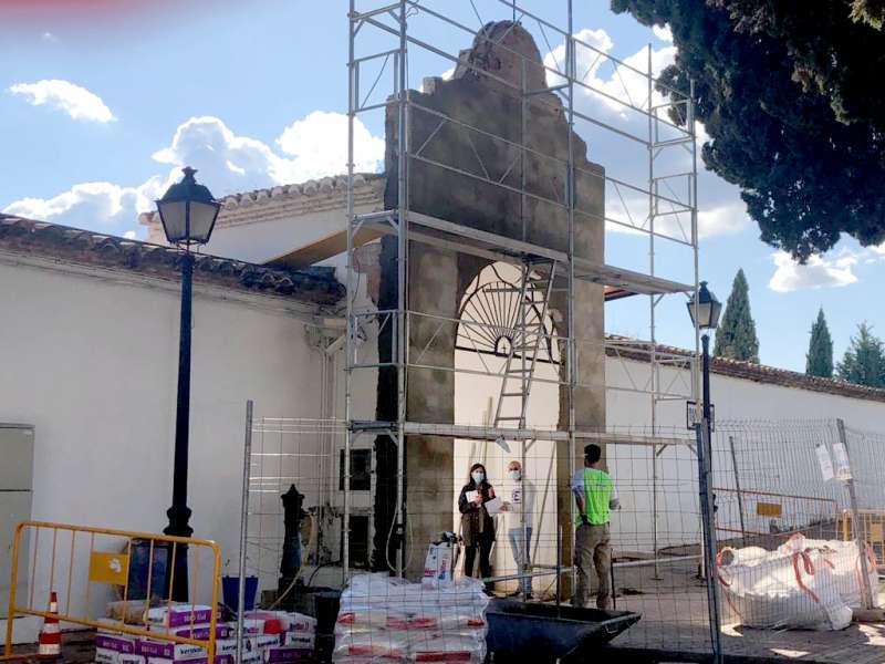 El portal en obras. Foto: MC.Calpe