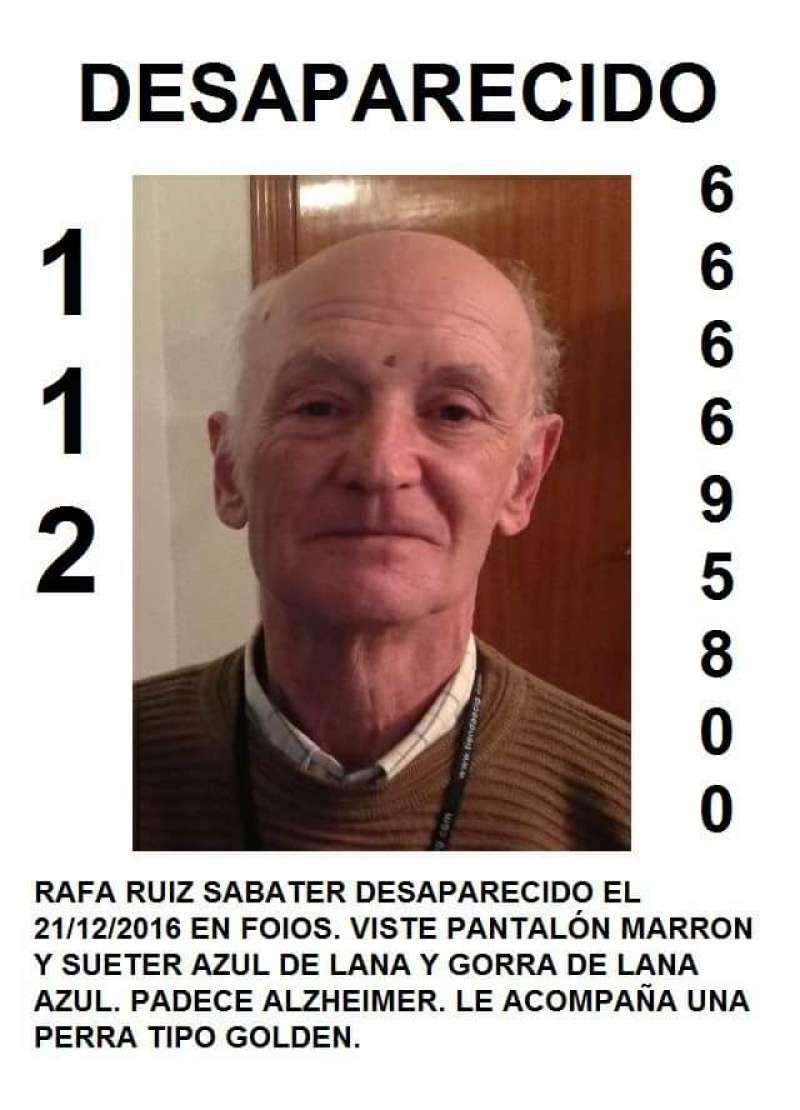 La policía local ha difundido carteles con la foto del desaparecido.