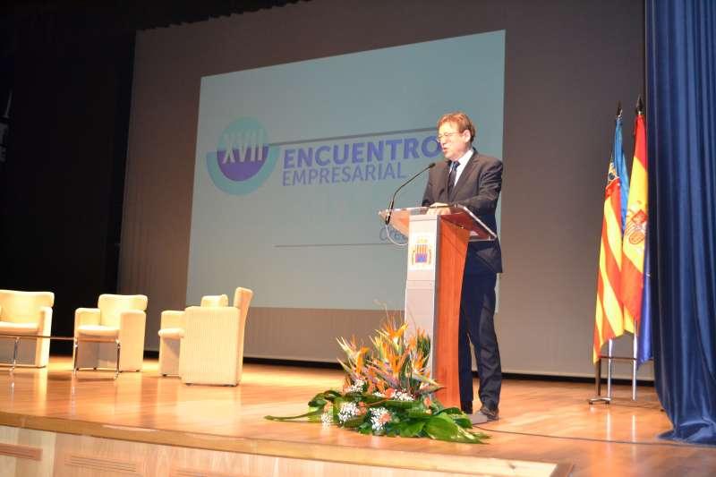 El presidente de la Generalitat en el Encuentro Empresarial. EPDA