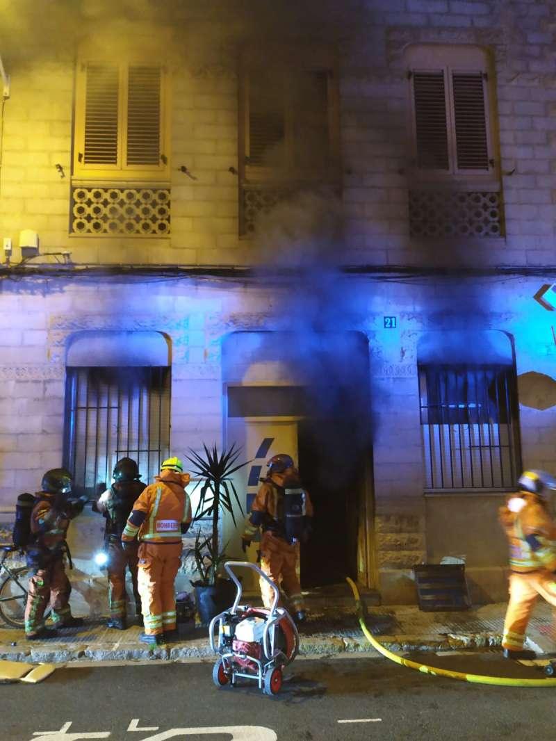 Vivienda incendiada en Foios. EPDA