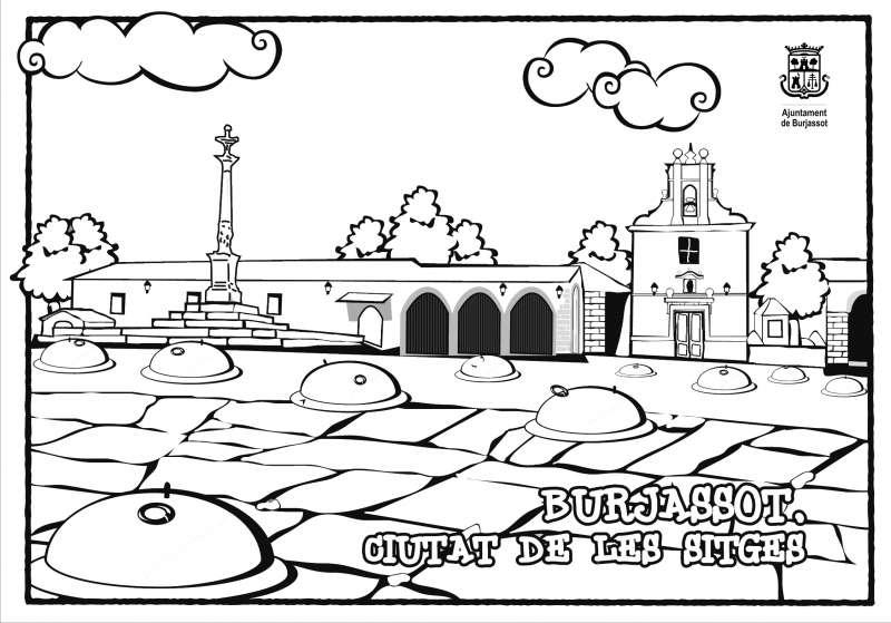 Dibujo del Patio de Los Silos de Burjassot