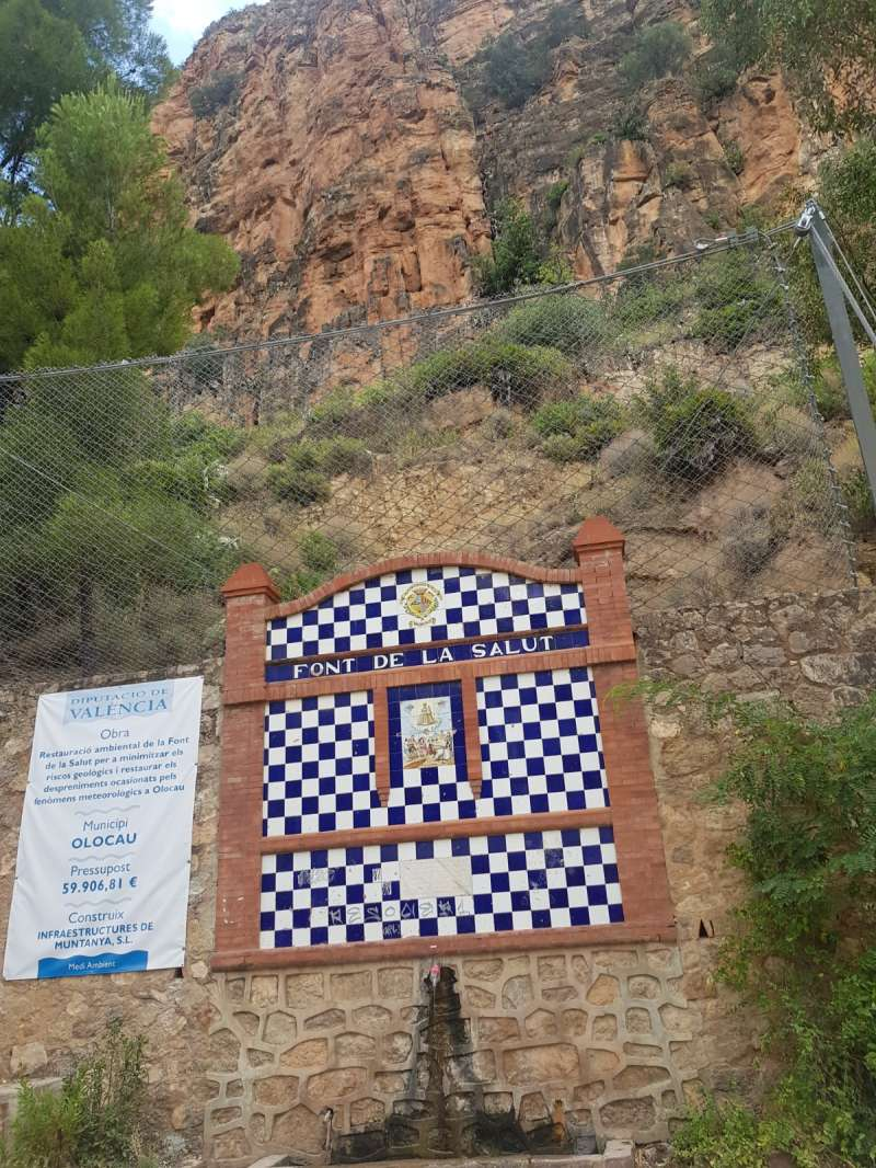 Muro de piedra de la Font d