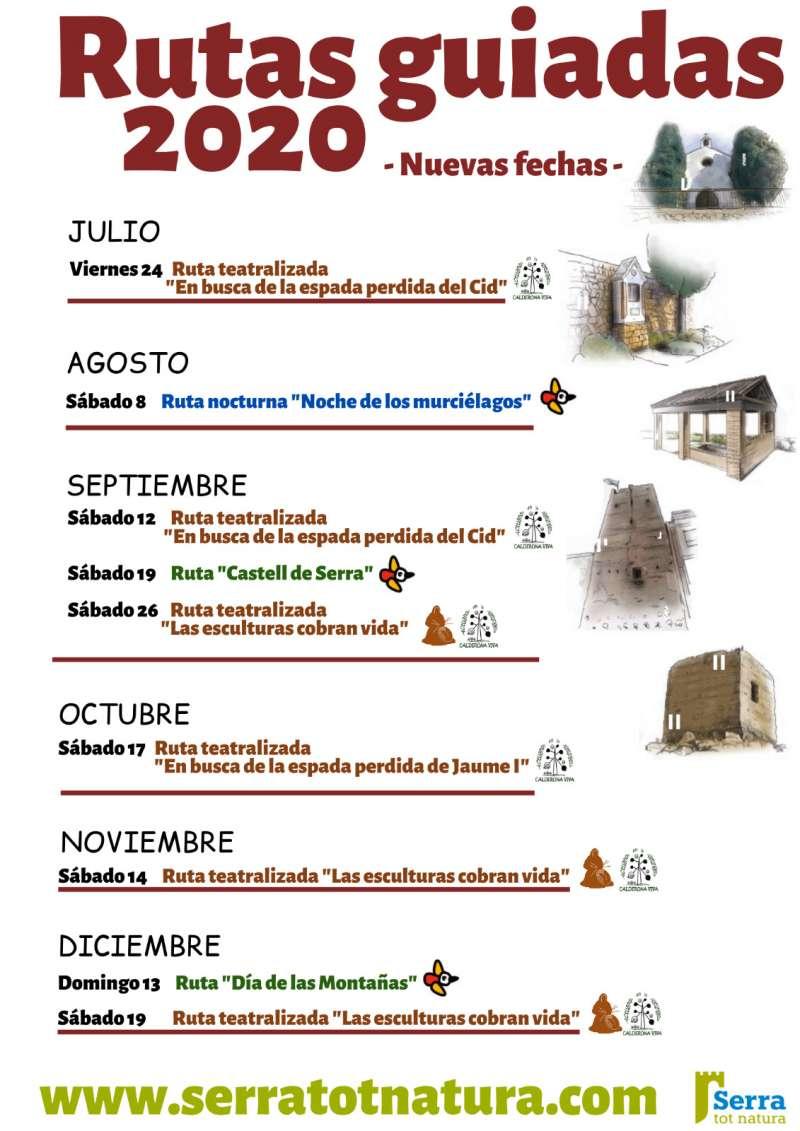 Cartell de les noves rutes. / EPDA