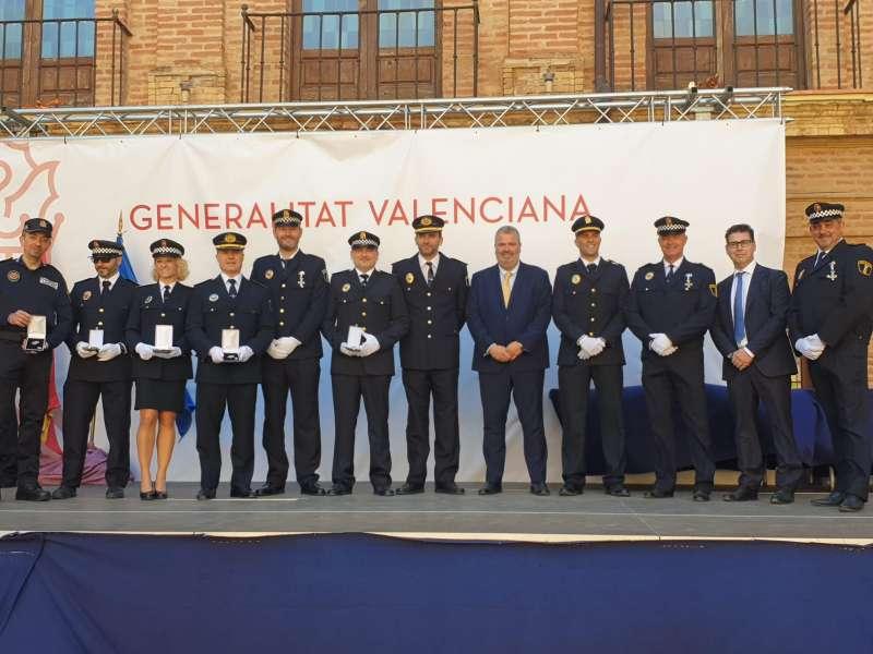 Policia Local rebent el reconeixement. EPDA