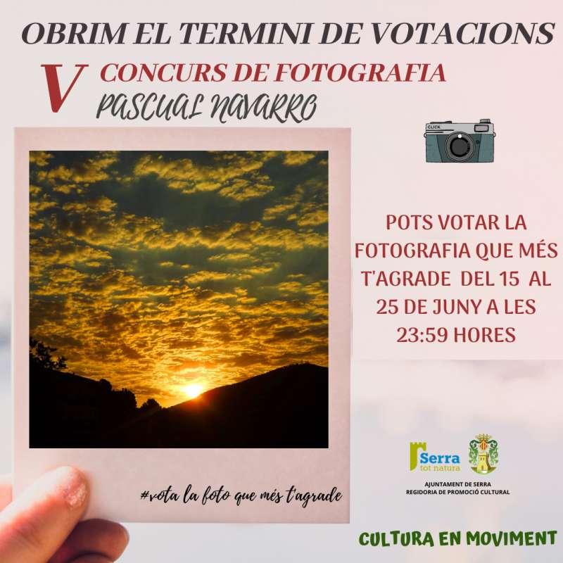 Cartell per promocionar les votacions de les fotografies. / EPDA