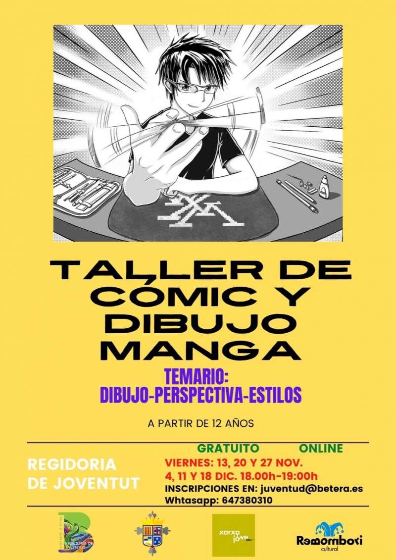 Cartel de Taller de cómic. / EPDA