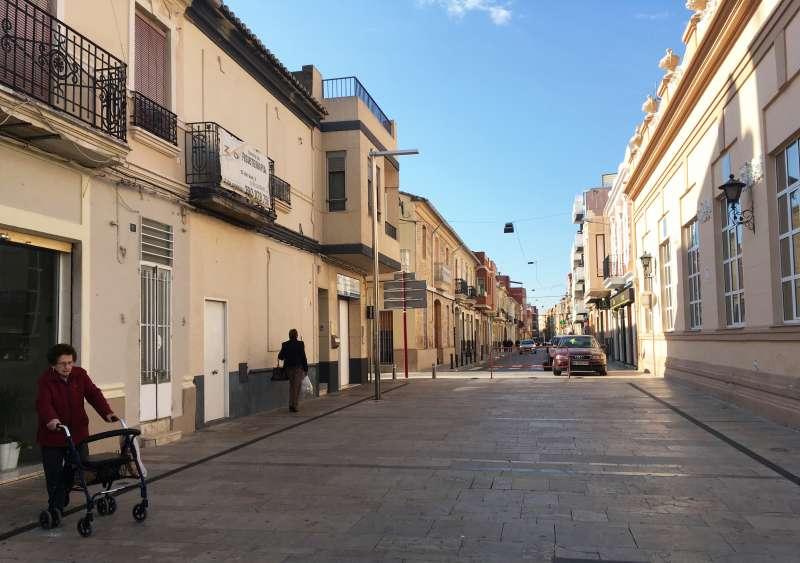 Una calle en el municipio de Alfafar. EPDA