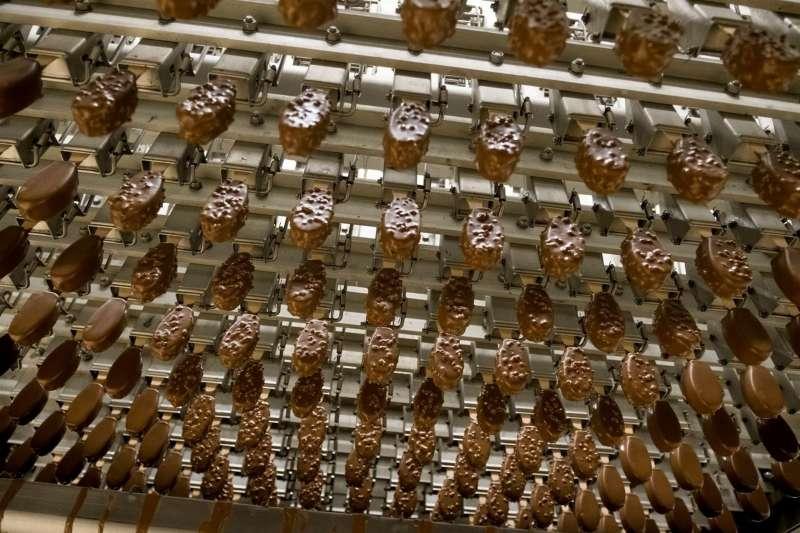 Cadena de producción de helados. Foto cedida por Helados Estiu.