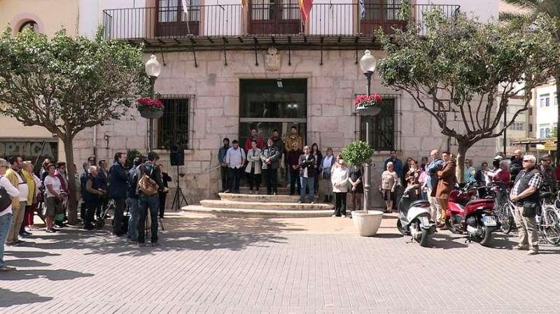 Imagen de archivo de la concentración silenciosa por la muerte de una joven desaparecida en Vinaròs. EFE