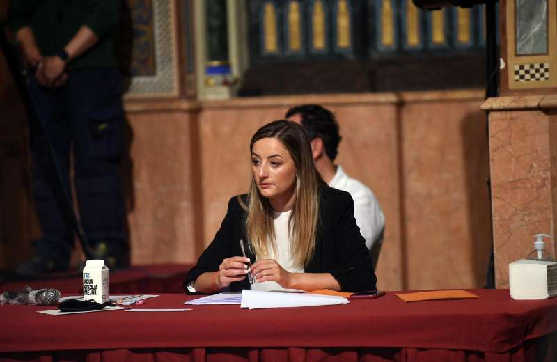 La portavoz de Ciudadanos (Cs) en la Diputación, Rocío Gil
