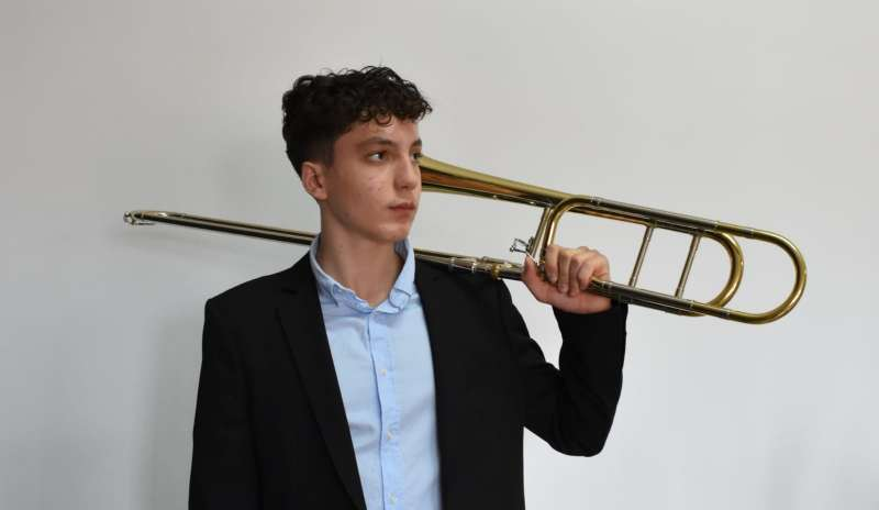 Toni Galán con su trombón