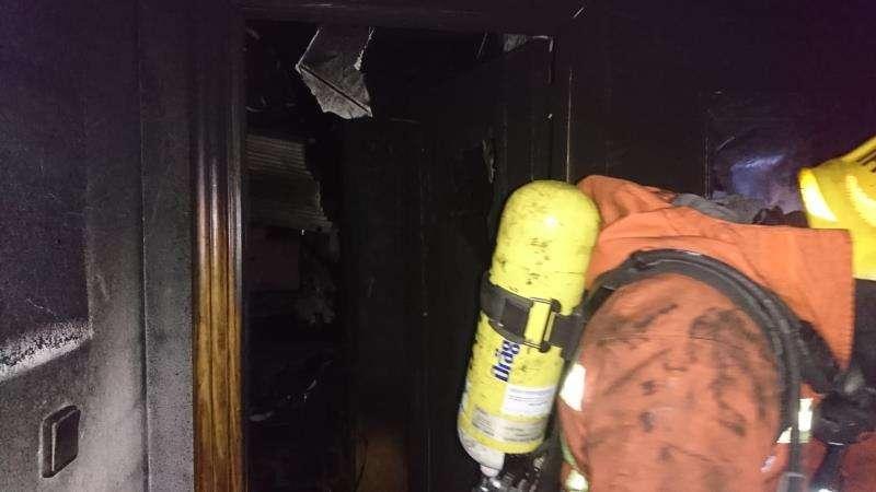 Imagen del incendio de Albal. EFE/Consorcio Bomberos