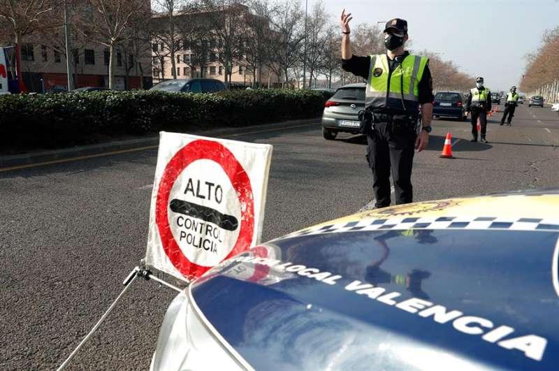 Control de Policía Nacional. EFE