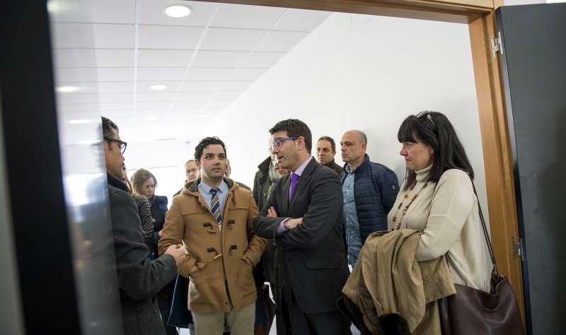 El Presidente de la Diputació en Paterna.