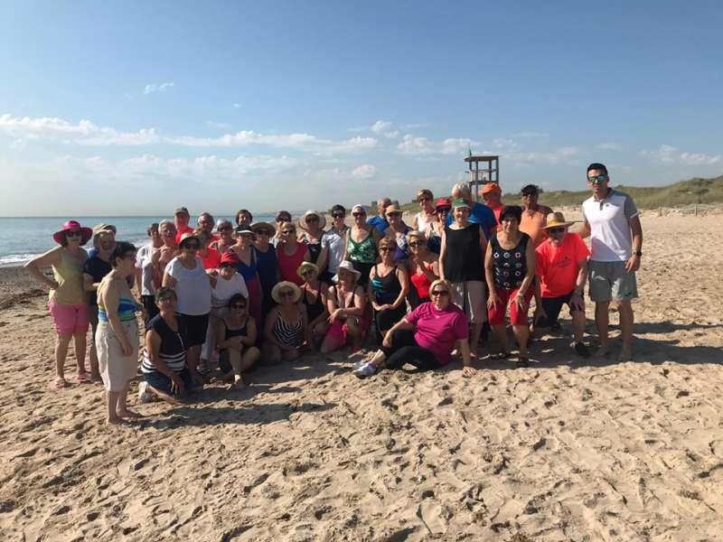 Grup a la platja