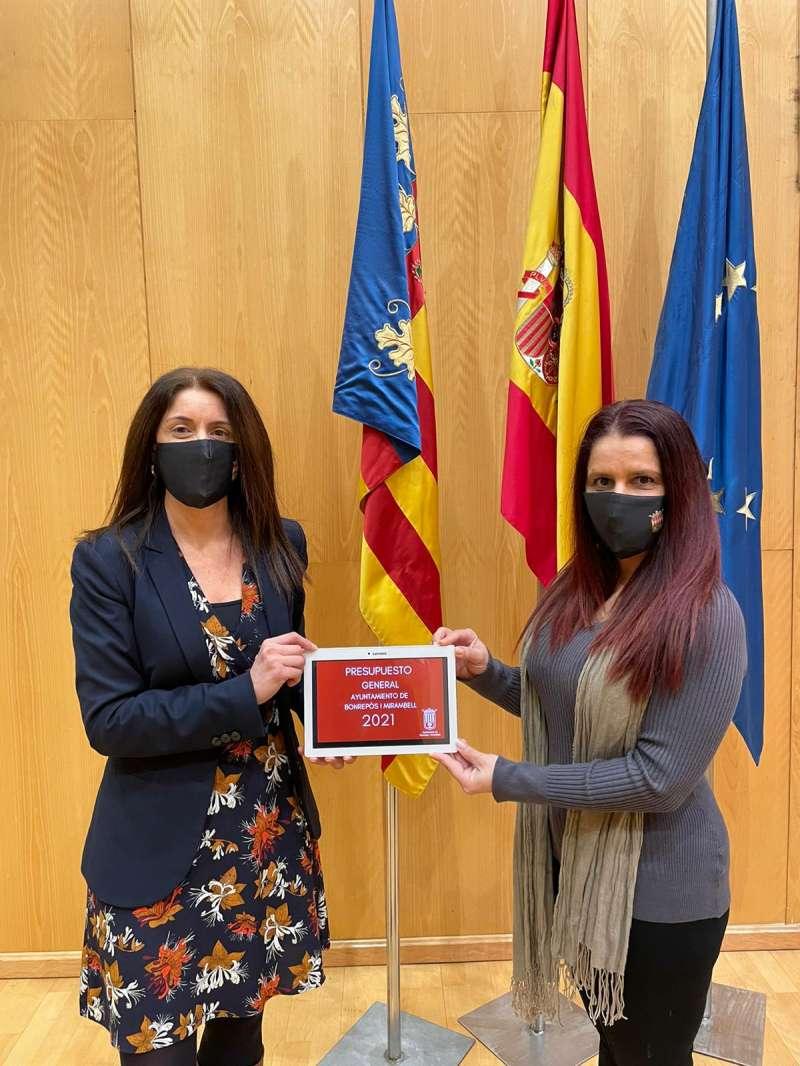 Mª Carmen Laso i Raquel Ramiro. EPDA
