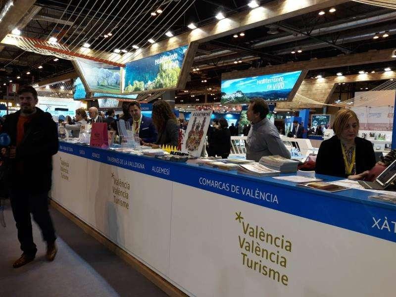 Espacio expositivo de la Diputación de Valencia en la Feria Internacional de Turismo Fitur 2019, en una imagen de la corporación.